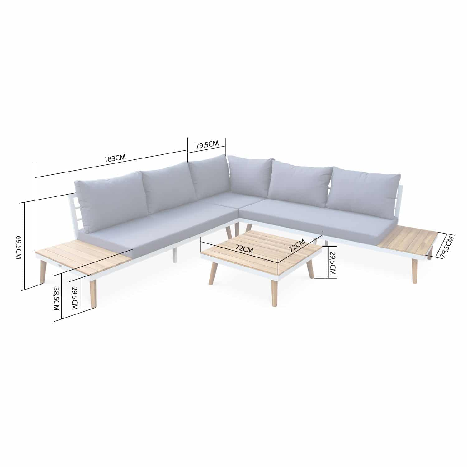 Buenos Aires outdoor lounge 5 seater acacia AC0012GY