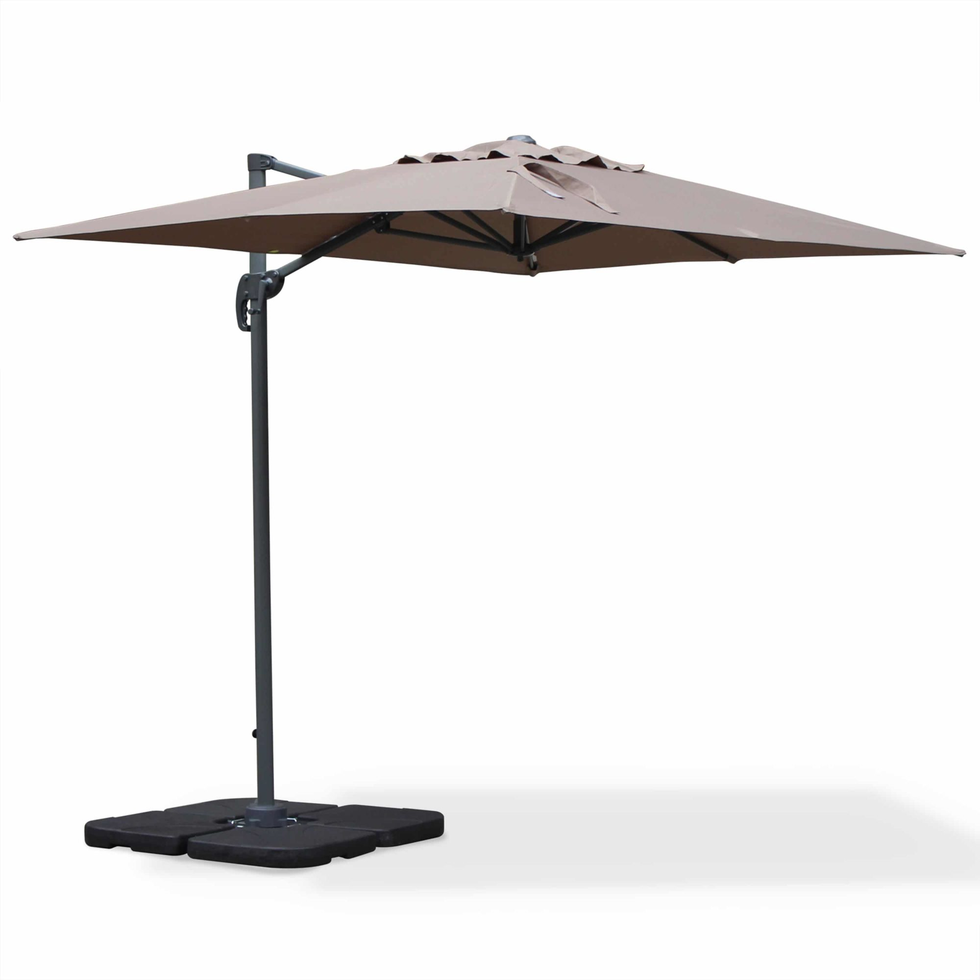 Outdoor Cantilever Umbrella Aluminium 2x3m Taupe (Brown)