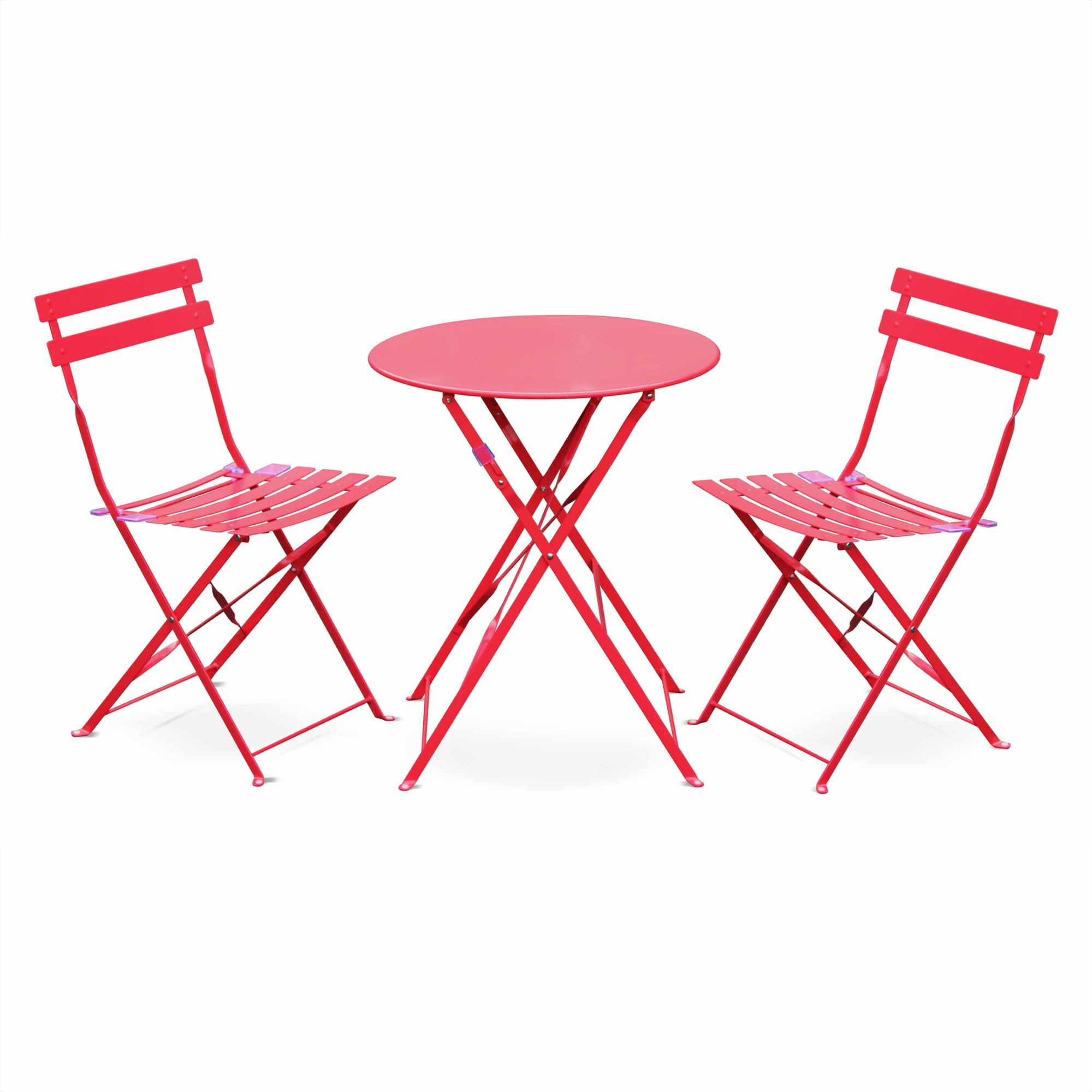 EMILIA -  bistro table set Ø60cm round table set electrophoresis | 3 Colours