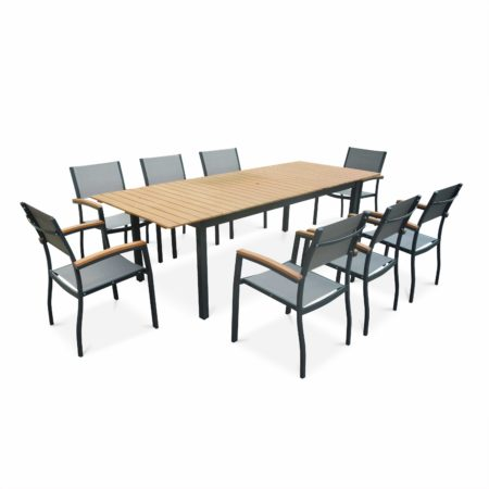 Alice's Garden Sevilla 8 Seater Dining Set Eucalyptus/Grey