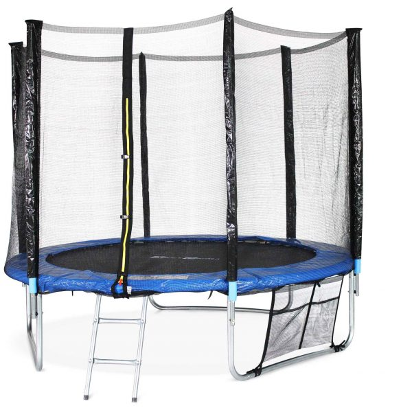 pluton xxl 8 foot trampoline blue kit alice 39 s garden. Black Bedroom Furniture Sets. Home Design Ideas
